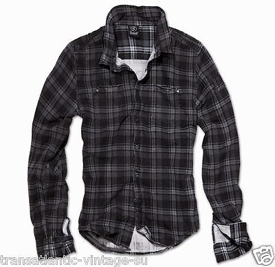 Brandit Classic Wire Check Shirt Men Casual Fitted Lumberjack ...