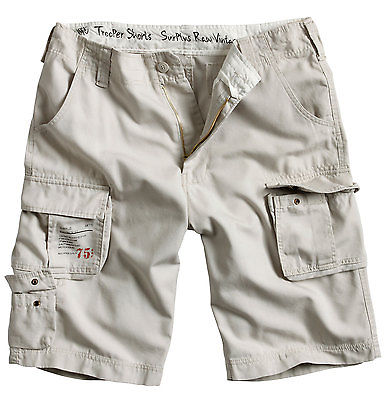 SURPLUS TROOPER LIGHTWEIGHT CARGO SHORTS MENS VINTAGE ARMY STYLE ...