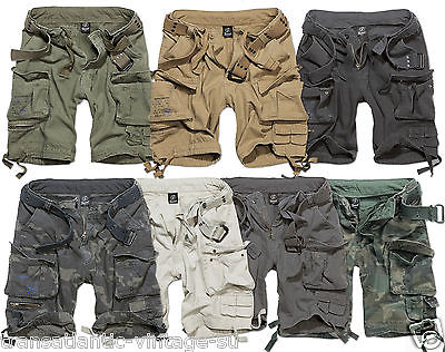 BRANDIT SAVAGE DELUXE CARGO SHORTS VINTAGE MENS ARMY STYLE WITH ...
