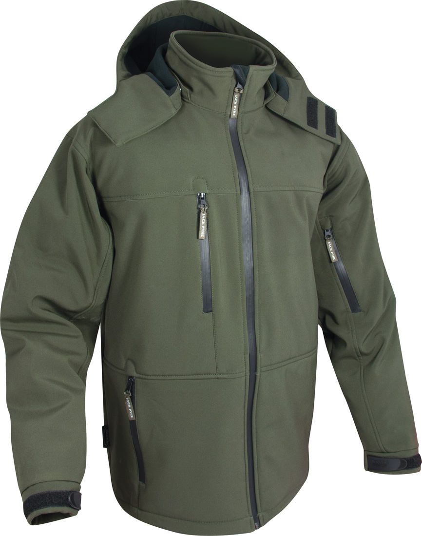 Jack pyke soft shell jacket waterproof hunting fishing for Waterproof fishing jacket