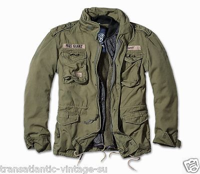BRANDIT M65 GIANT MENS MILITARY PARKA US ARMY JACKET WINTER ZIP OUT LINER  OLIVE 1569e7df972