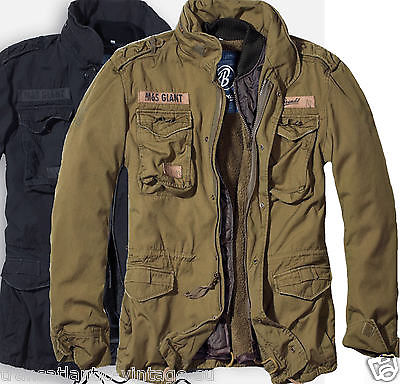 Brandit M65 Giant Mens Military Parka Us Army Jacket Winter Warm Zip Out Liner Ebay