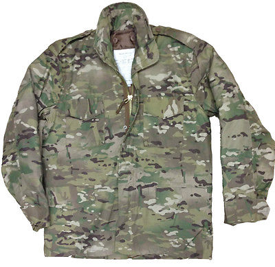 Multi Cam Us M65 Field Jacket Quilted Liner Mens Mtp