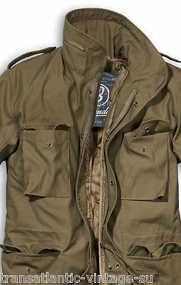 1f1dcc064 Details about BRANDIT M65 JACKET WITH QUILTED LINER MENS MILITARY ARMY  COMBAT FIELD COAT OLIVE