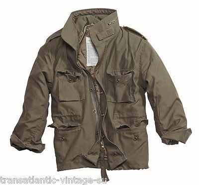 e7d01bce1 Details about M65 COMBAT FIELD JACKET MENS VINTAGE TYPE MILITARY ARMY COAT  QUILTED LINER OLIVE