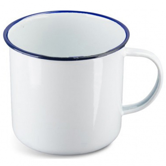 Highlander White Enamel Mug Large