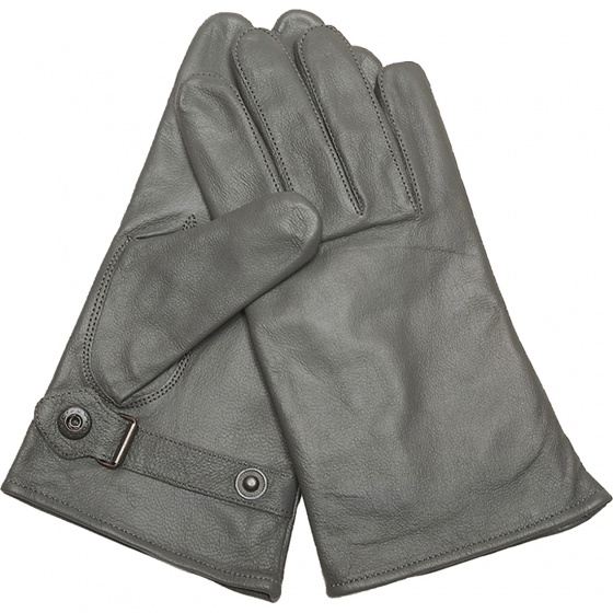Mil-Tec German Grey Lined Leather Gloves