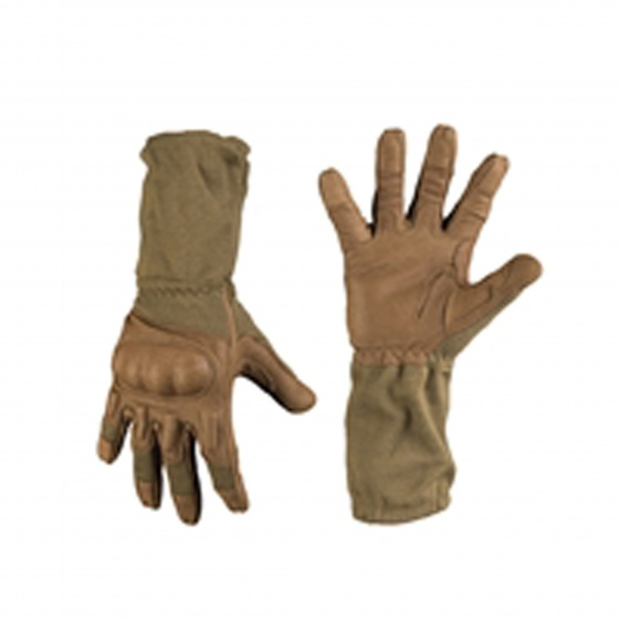 Mil-Tec Coyote Action Gloves with Cuff Flame-Retardant