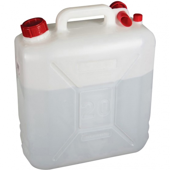 Highlander Jerry Can 20 Litre (White, One Size)