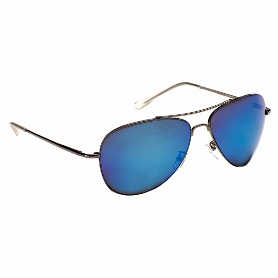 Eyelevel Cadet Aviator Sunglasses (Dark Frame, Blue Lens)