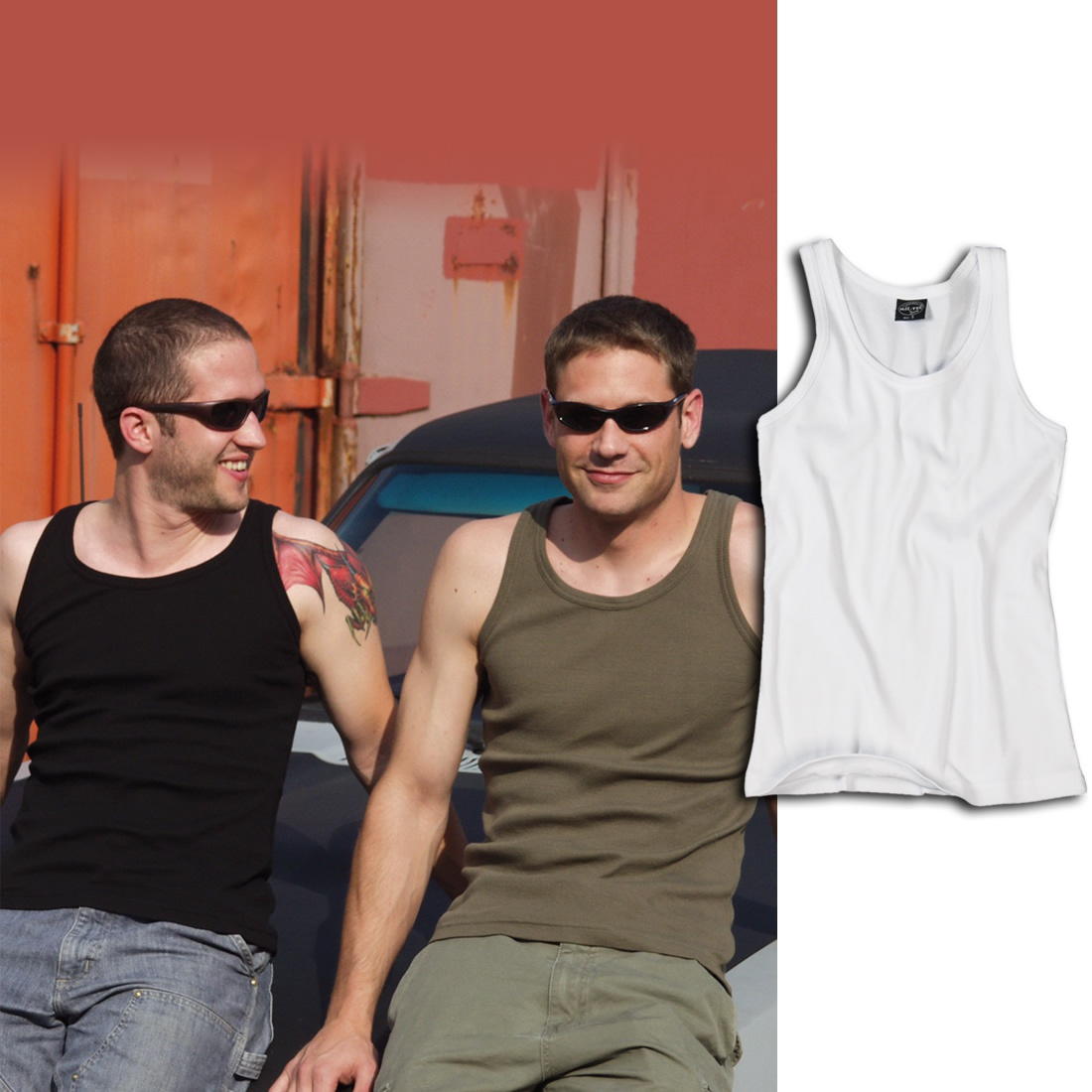 Mil-Tec Tank Top Ribbed Co Olive Green
