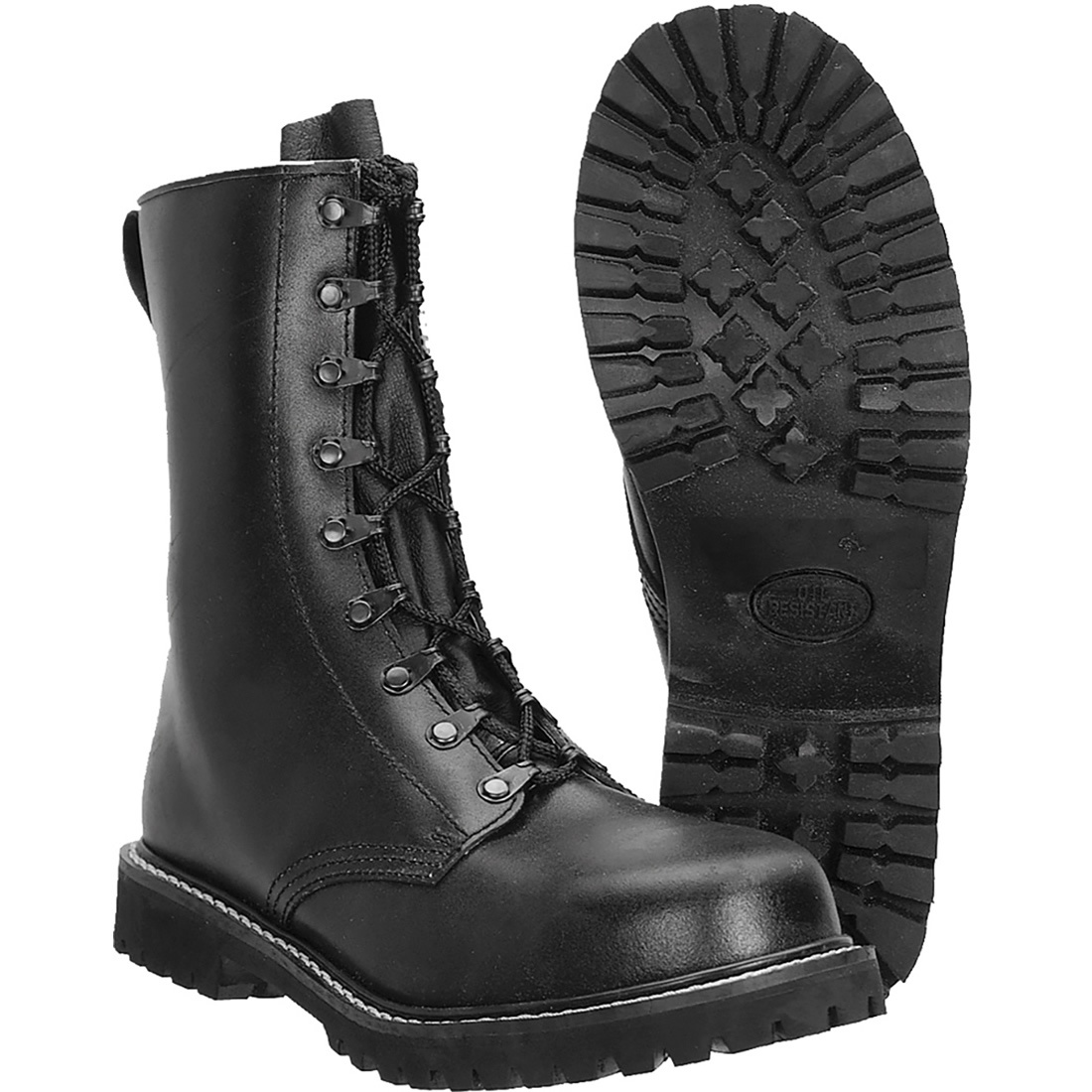 Mil-Tec Para Leather Boots With Toe Cap